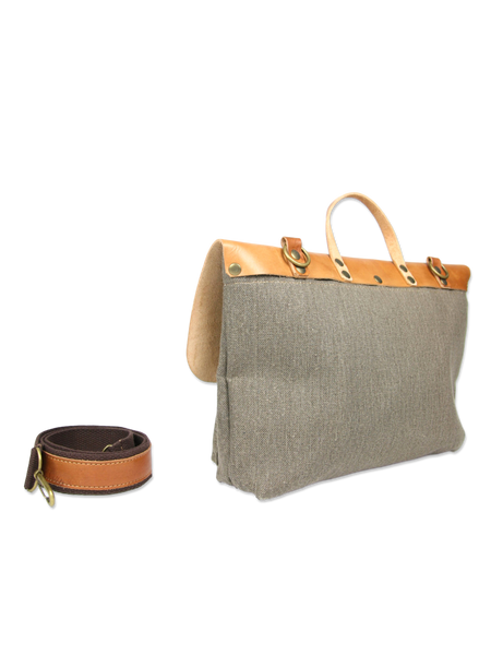 Handcrafted shoulder bag briefcase