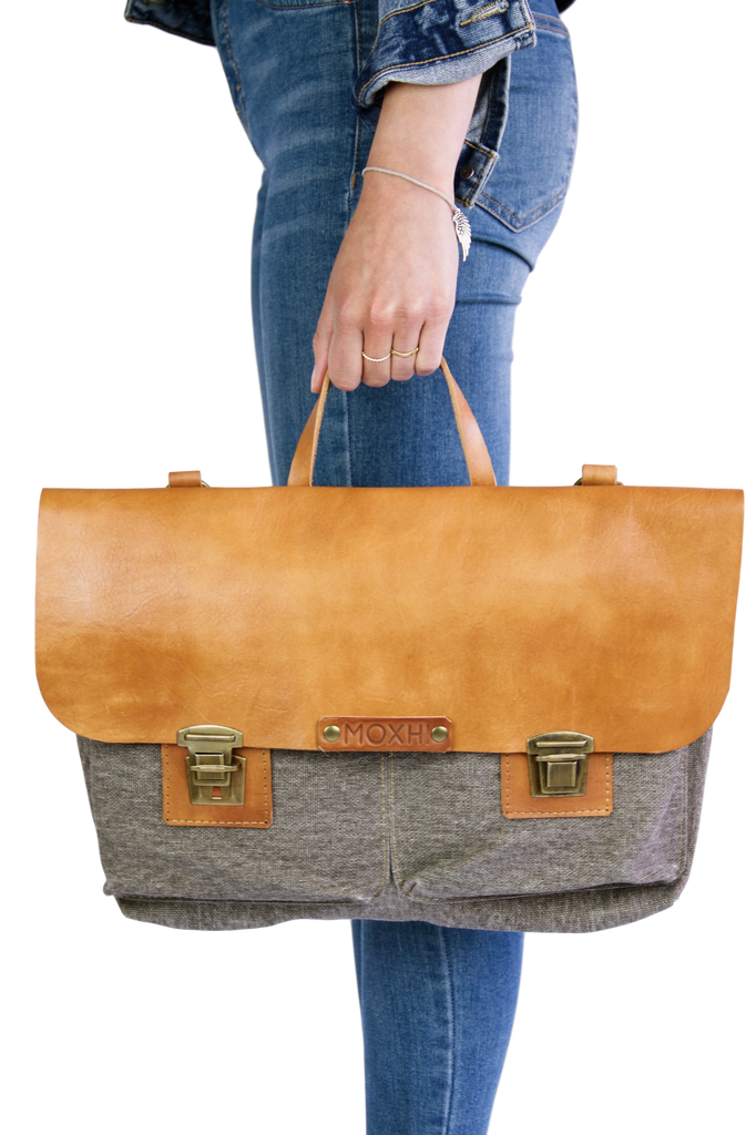 Handmade shoulder bag eco leather women