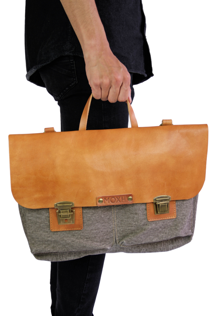 Handmade shoulder bag sustainable men