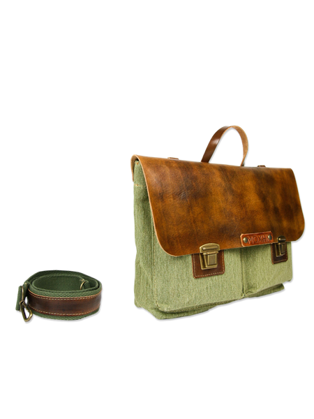 Handmade shoulder bag briefcase