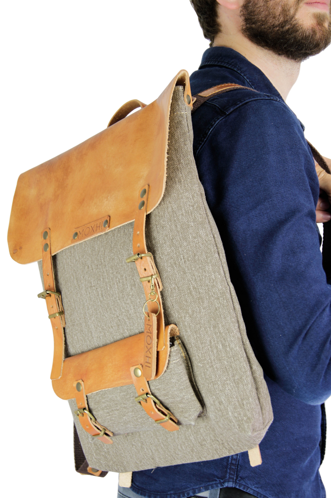 Artisanal backpack handmade men
