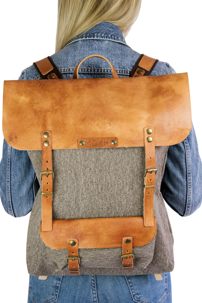 Handmade backpack vintage sustainable
