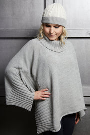 Alpaca Roll Neck Poncho