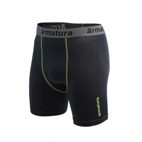 Mens Basic Compression Wear Shorts in Petrol Grey
