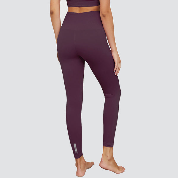 Flex Fit Seamless High Waisted Leggings in Burgundy