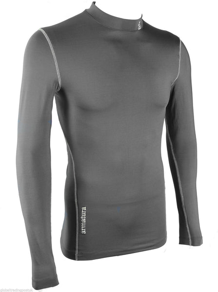 Mens Long Sleeve Compression Wear Base Layer in Black