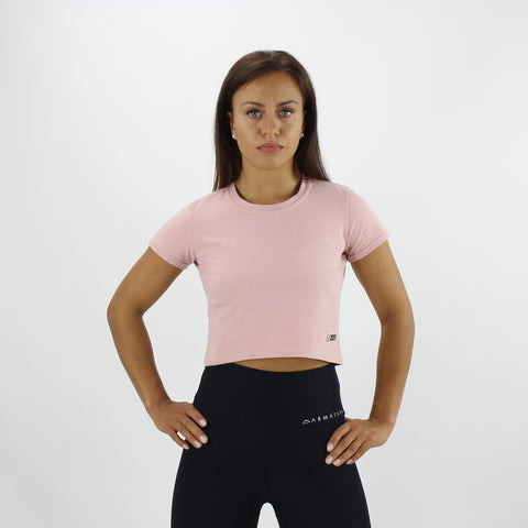 Cropped Tee in Dusty Pink