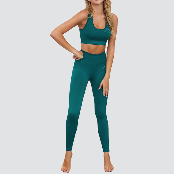 Flex Fit Seamless Racer Back Bra in Teal Green