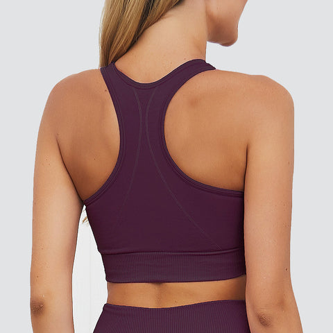Flex Fit Seamless Racer Back Bra in Burgundy