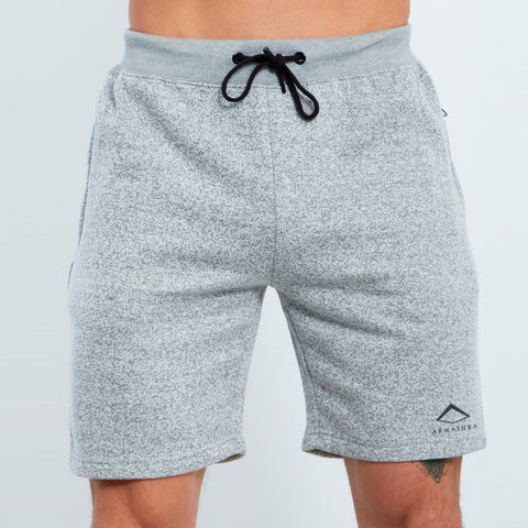 Baller Shorts in Grey Marl