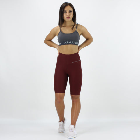 Luxe Ultra High Waisted Bike Shorts in Berry