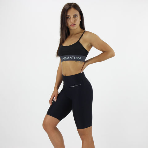 Luxe Ultra High Waisted Bike Shorts in Black