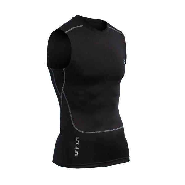 Mens Compression Base Layer Vest in Black, Petrol, Grey or White