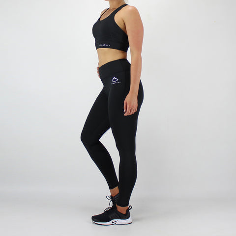 Session Sports Bra and High Waisted Legging Set in Black