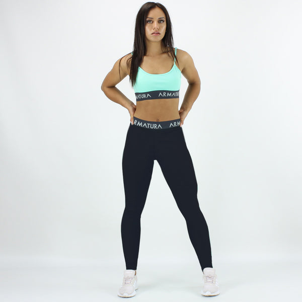 High Waisted Compression Leggings in Black