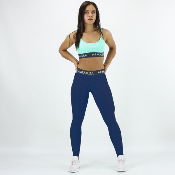 High Waisted Compression Leggings in Cobalt Blue