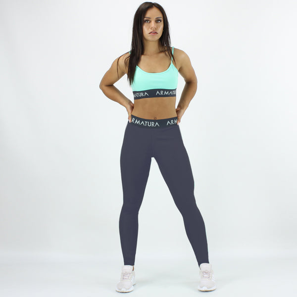 High Waisted Compression Leggings in Grey