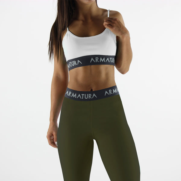 High Waisted Compression Leggings in Khaki