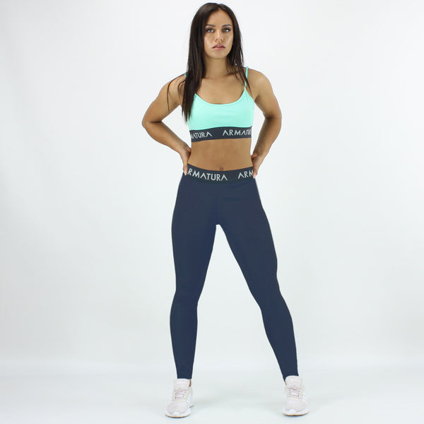 High Waisted Compression Leggings in Navy
