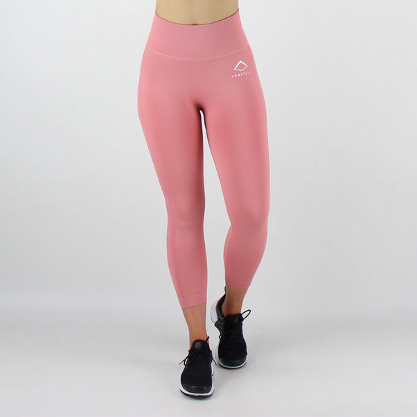 Core High Waisted Seamless Capri in Rose