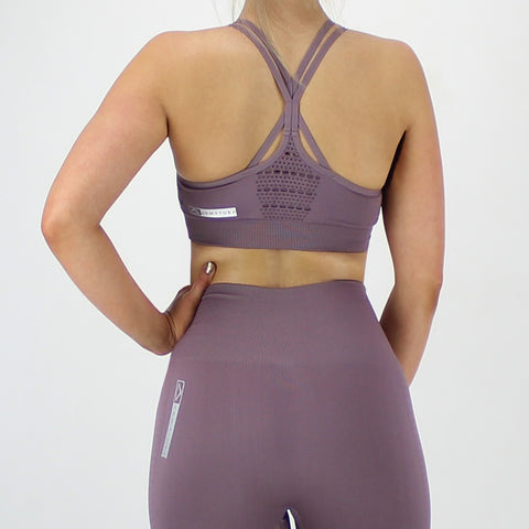 GEO Seamless Bra in Dusky Purple