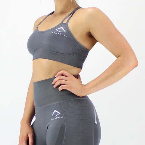 GEO Seamless Bra in Grey