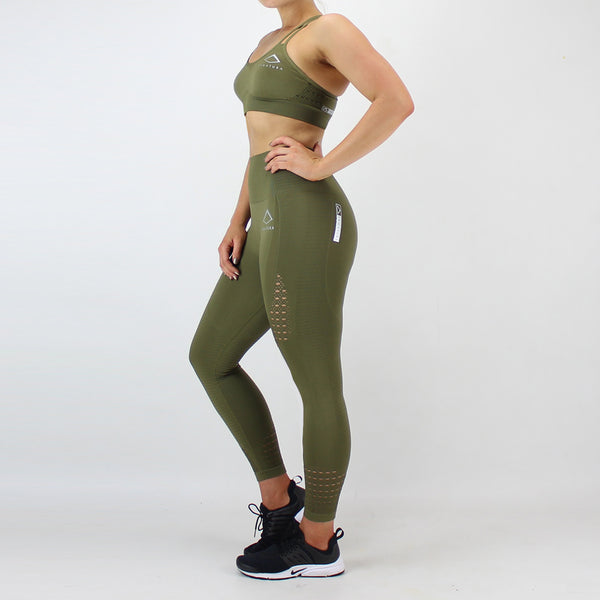 GEO Seamless Bra in Khaki