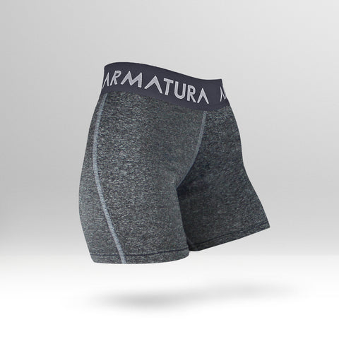 Luxe Gym Shorts in Grey Fleck