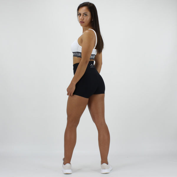 Luxe Ultra High Waisted Shorts in Black