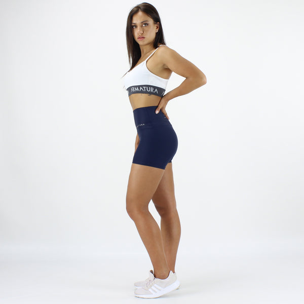 Luxe Ultra High Waisted Shorts in Navy