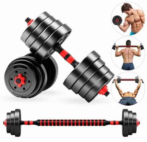 30kg Adjustable Dumbbell and Barbell Set
