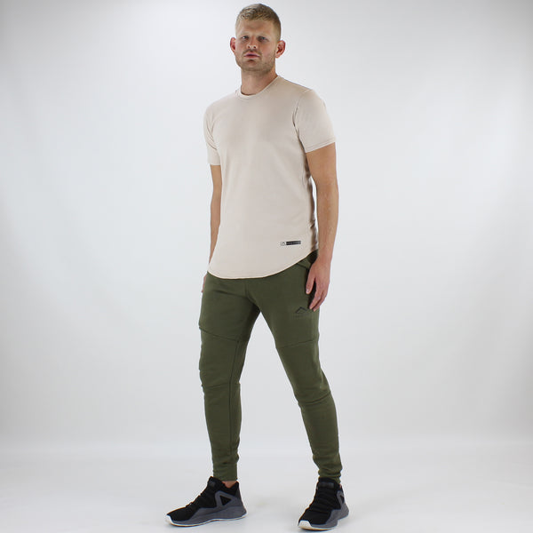 Men's Tech-Fit Tapered Joggers in Khaki
