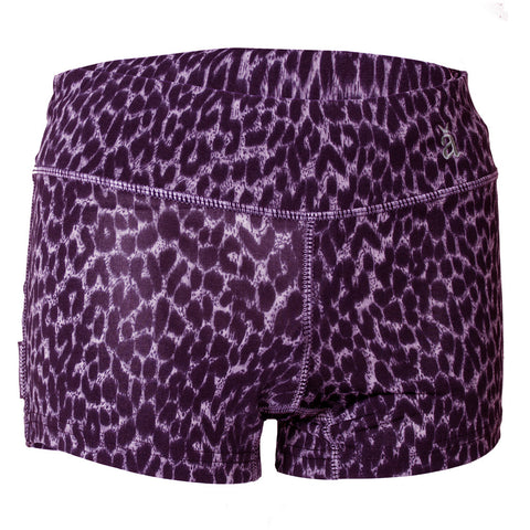 Leopard Print Tech Shorts Pink