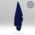 Magnetic Microfibre Gym Towel in Navy