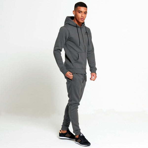 Mens Core Tapered Tracksuit in Cosmos Grey