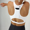 Tech Pocket Sports Bra in White