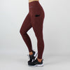 High Waisted Legging with Pockets in Berry