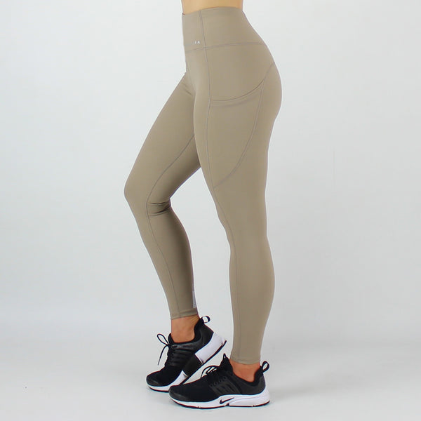 High Waisted Legging with Pockets in Sand