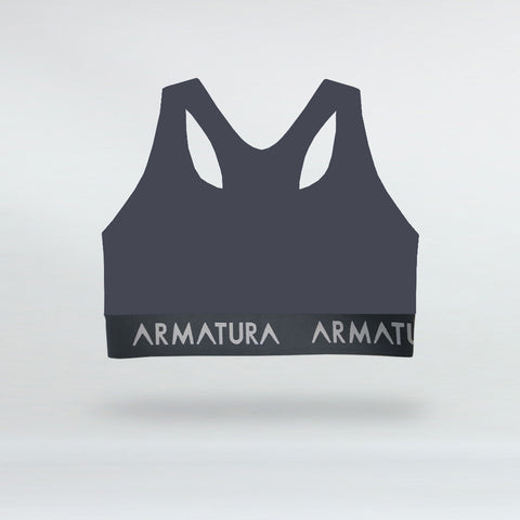 Racer Back Sports Bra in Grey