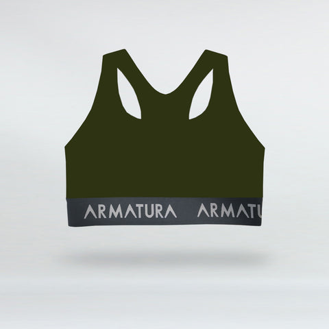 Racer Back Sports Bra in Khaki