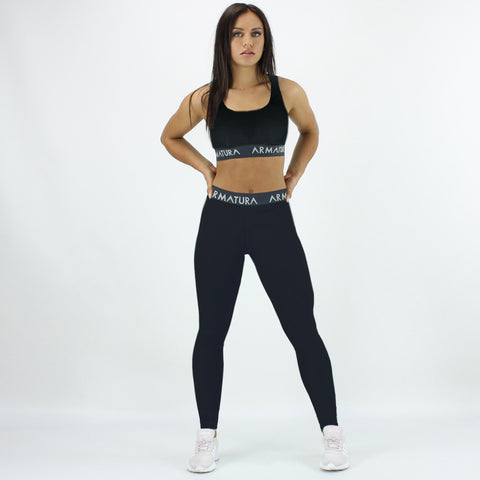 Racer Back Sports Bra in Black