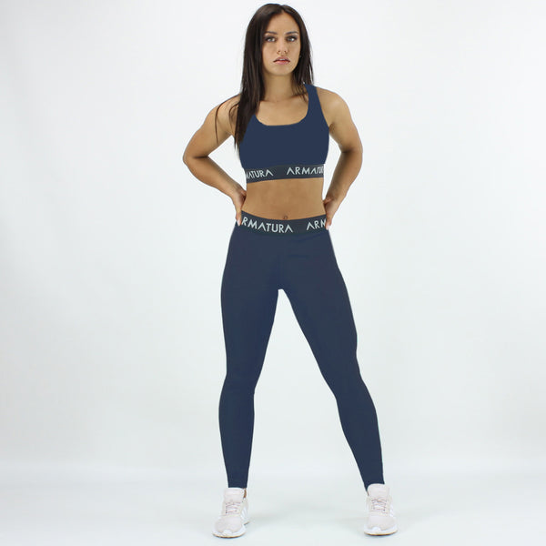 Racer Back Sports Bra in Navy