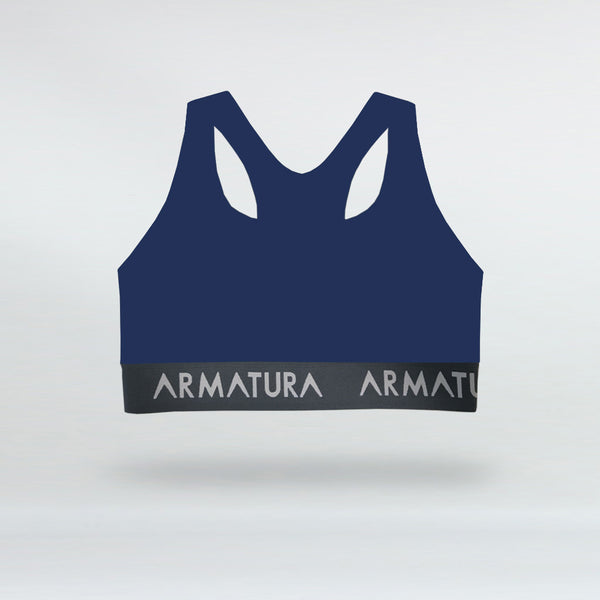 Racer Back Sports Bra in Cobalt Blue