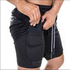 Tech Phone Pocket Shorts in Black