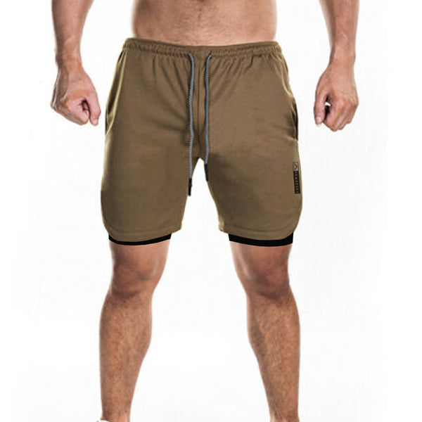 Tech Phone Pocket Shorts in Desert Sand