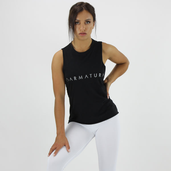 Women's Muscle Tank in Black