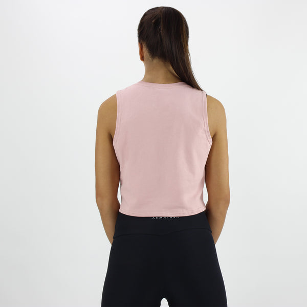 Cropped Vest in Dusty Pink