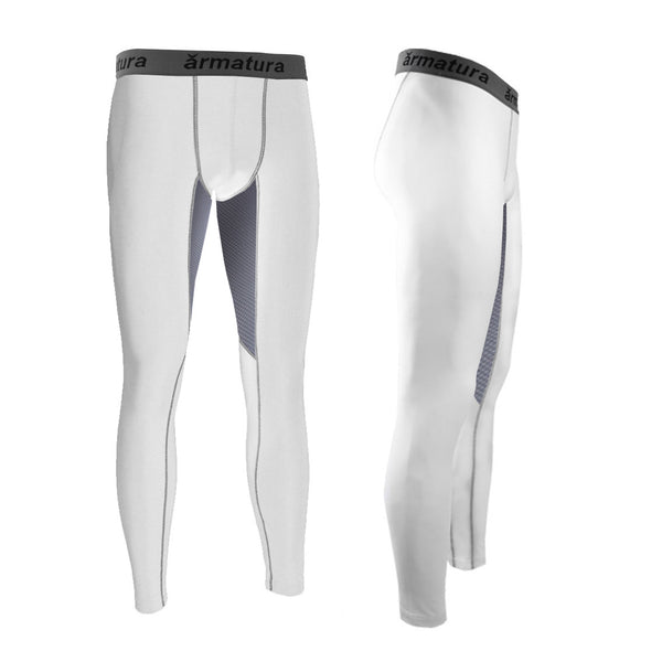 Mens Vented Compression Wear Leggings in White