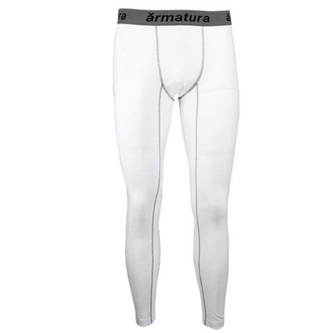 Mens Basic Compression Wear Leggings White