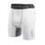 Mens Vented Base Layer Compression Wear Shorts in White
